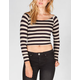 FULL TILT Striped Womens Crop Tee