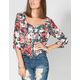 FULL TILT Floral Womens Crop Shirt