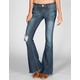ALMOST FAMOUS Fray Hem Womens Flare Jeans