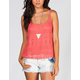 FULL TILT Lace Front Womens Tank