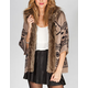 TWISTED ANGELS Faux Fur Trim Womens Cardigan