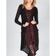 FULL TILT Womens Hachi Knit Long Cardigan