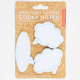 KIKKERLAND Thought Cloud Sticky Notes