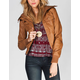 FULL TILT Sweater Collar Womens Faux Leather Jacket