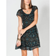 LOTTIE & HOLLY Brocade Print Button Front Dress