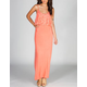 NEBLINA Lace Flounce Maxi Dress