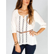 FULL TILT Embroidered Womens Belted Tunic