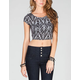 FULL TILT Chevron Stripe Womens Crop Tee