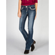 AMETHYST JEANS A Stitch Womens Slim Bootcut Jeans