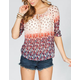 SOCIALITE Crochet Back Womens Peasant Top
