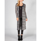 SOCIALITE Stripe Texture Womens Long Length Cardigan