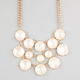 FULL TILT Round Facet Stone Bib Statement Necklace