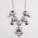 FULL TILT Milky Bead Bib Statement Necklace