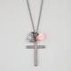 FULL TILT Rhinestone Cross/Heart/Flower Charm Necklace