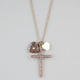 FULL TILT Rhinestone Cross/Heart/Flower Charm Necklace