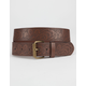 Lotus Embossed Belt