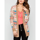 FULL TILT Marled Tribal Pattern Womens Cardigan
