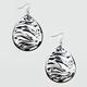 FULL TILT Zebra Cutout Earrings