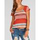FULL TILT Ethnic Stripe Womens Lace Back Top
