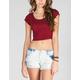 FULL TILT Solid Womens Crop Tee