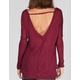 FULL TILT Essential Womens V Back Drop Shoulder Sweater