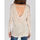 FULL TILT Essential Womens V Back Drop Shoulder Sweater