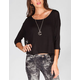 FULL TILT Lace Inset Womens Boxy Top