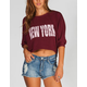 FULL TILT New York Womns Crop Sweatshirt
