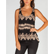 FULL TILT Tribal Stripes Womens Open Back Top