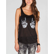 FULL TILT Mirror Skeleton Hands Womens Tank