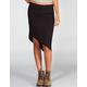 LILY WHITE Asymmetrical Midi Skirt