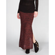 LILY WHITE Space Dye Sweater Knit Maxi Skirt