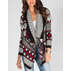 FULL TILT Geo Ethnic Pattern Womens Wrap Sweater