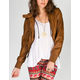 FULL TILT Fleece Hooded Womens Faux Leather Jacket