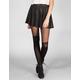 FULL TILT Distressed Faux Leather Skater Skirt