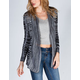 FULL TILT Womens Marked Cardigan