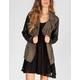 WYLDEHART Faux Leather Sleeve Womens Twill Anorak Jacket
