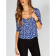 FULL TILT Ditsy Womens Crop Top