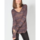 FULL TILT Stripe Womens Drop Shoulder Top