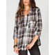 FULL TILT Roll Cuff Womens Flannel Shirt