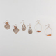 FULL TILT 3 Pairs Bead Hoop/Filigree Earrings