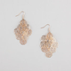 FULL TILT Flower Filigree Chandelier Earrings