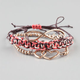 FULL TILT 3 Piece Infinity Love Braided Bracelets