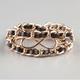 FULL TILT Infinity Faux Leather Chain Wrap Bracelet