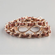FULL TILT Infinity Faux Leather Chain Wrap Bracelet