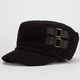 Textured 2 Buckle Womens Cadet Hat