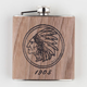 Chief Real Wood Flask