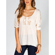 LOTTIE & HOLLY Womens Hi Low Peasant Top