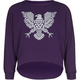 FULL TILT Eagle Girls Crop Sweatshirt