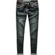 HYDRAULIC Roll Cuff Womens Skinny Jeans